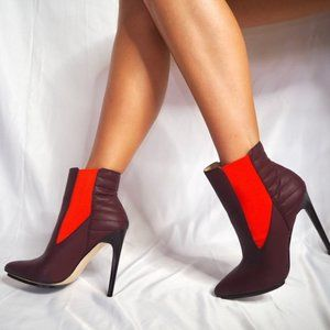 GX by Gwen Stefani Shoes - Gwen Stefani Gx Bordeaux/Burgundy Bootie Heels